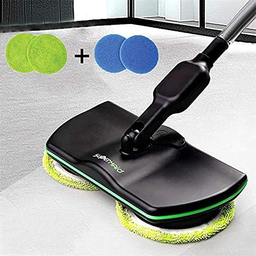 Xbshmw Mocio Rotante Elettrico Cordless, Mop per Pulizie Domestiche Ricaricabile, Elettrico...