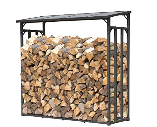 Quick-Star Ripiano per legna da ardere 143x70x145cm