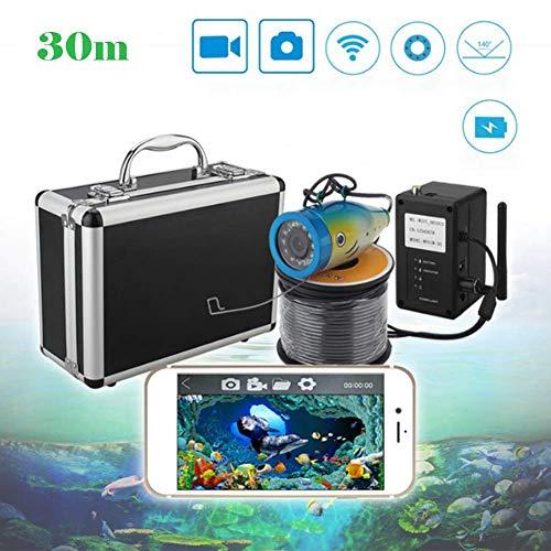 Fbestfish Underwater Fish Finder Wireless Pesca Subacquea Telecamera di Registrazione Video per iOS Android App Supporta Video Record e scattare Foto, 30M