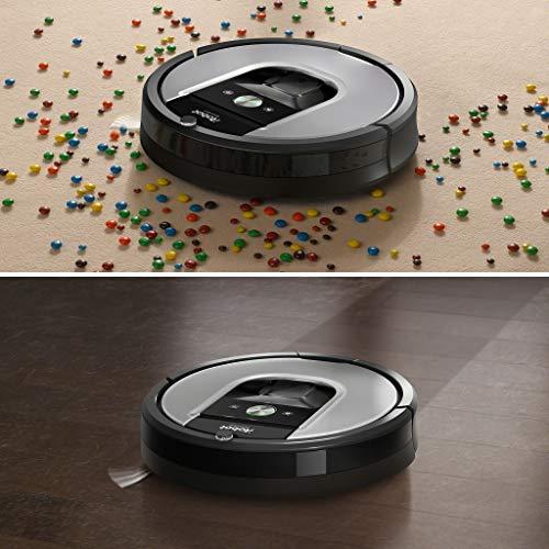 514oS%2BAHQAL [Bon Plan Neato] iRobot Roomba 960, aspirateur robot avec forte puissance d'aspiration, 2 brosses anti-emmêlement, idéal pour animaux, capteurs de poussière, parfait sur tapis et sols, connecté, programmable via app