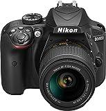 Nikon D3400 con Lente Nikkor AF-P 18/55VR, Fotocamera Reflex Digitale, 24,7 Megapixel, LCD 3', Colore Nero