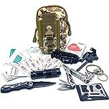 Felbridge Green Außen Notfall Survival Kit mit Multitool Zangen Set und Paracord Armbänd Für Camping, Bushcraft, Wandern, Jagd und Ihr Outdoor Abenteuer | Molle Survival Kit v1.0