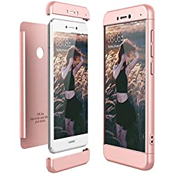 CE-Link Funda Huawei P8 Lite 2017, Carcasa Fundas para Huawei P8 Lite 2017, 3 en 1 Desmontable Ultra-Delgado Anti-Arañazos Case Protectora - Oro Rosa