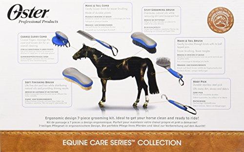 Oster - 78399-310 - Set de soins pour chevaux - 7 pièces - Bleu 32