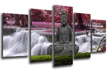 Cuadro Fotográfico Buda Buddha, Relajacion, Relax, Zen Tamaño total: 165 x 62 cm XXL 3
