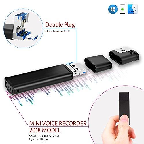 Mini USB Registratore Vocale Audio Spia Cimice 8GB / 94 ore, Voice Recorder compatibile con...