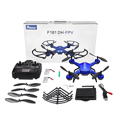 Potensic® Fonction Stepless-speed RC drone F181DH 5.8GHz 4CH 6-Axis Gyro RC Quadcopter drone avec 2 mégapixels caméra HD, Fonction Altitude ... 29
