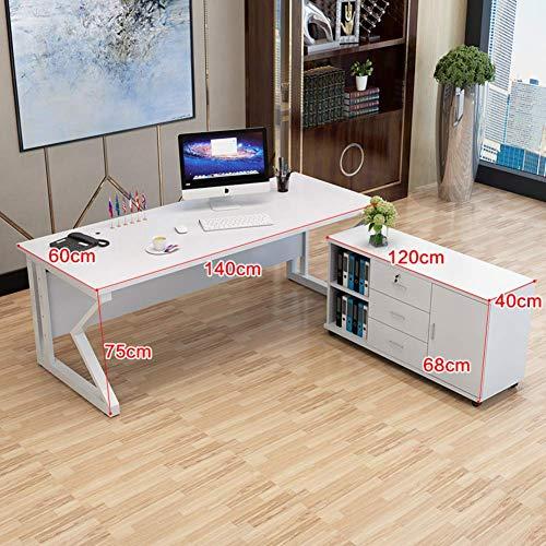 ZLL Scrivania per Computer, Grande Scrivania per Ufficio, Tavolo per Computer Moderno Semplice con...