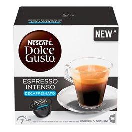 NESCAFE' DOLCE GUSTO Espresso Intenso Decaffeinato, 3 Confezioni da 16 Capsule, 48 Capsule
