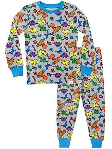 Harry Bear Pijamas de Manga Larga para niños Dinosaurio Ajuste Ceñido 5-6 Años