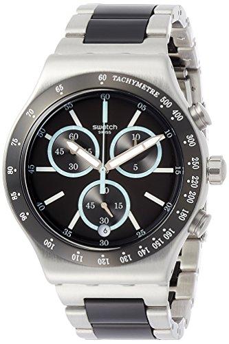 Swatch Orologio Cronografo Quarzo Uomo con Cinturino in Acciaio Inox YVS434G