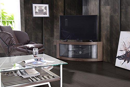 Centurion Supports, mobile da TV Pangea, con linea curva, per angolo, per TV da 32' a 55' Walnut