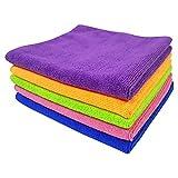 Softspun Microfiber Car Cleaning Cloth (Set of 5, Multicolour)
