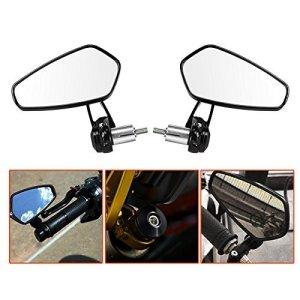 LeaningTech 2 Stück Motorrad Spiegel Seitenspiegel Rückspiegel Lenkerendenspiegel Lenkerspiegel 1