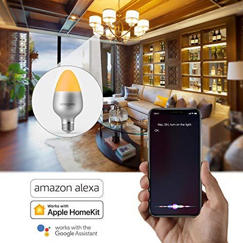 Koogeek-Ampoule-LED-wifi-E27-Intelligente-Siri-control-8W-500LM-Dimmable-Lumire-16-millions-de-couleurs-Tlcommande