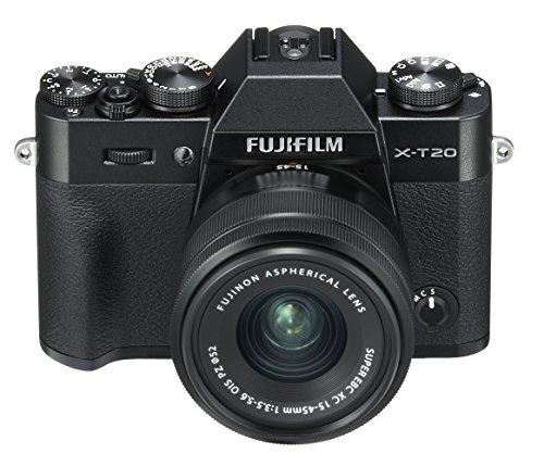 Fujifilm X-T20 Black Fotocamera Digitale 24MP con Obiettivo XC15-45mm F3.5-5.6 OIS PZ, Sensore CMOS...