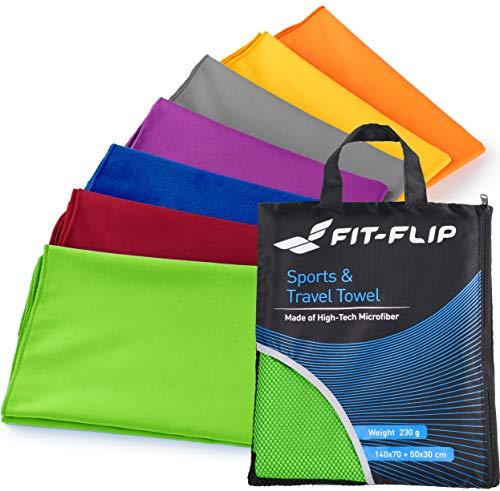 Fit-Flip 100x200cm - 1 Stück/Grün, reisehandtuch microfaser Handtuch mikrofaser badehantuch reisehandtuch schnelltrocknend handtücher Camping