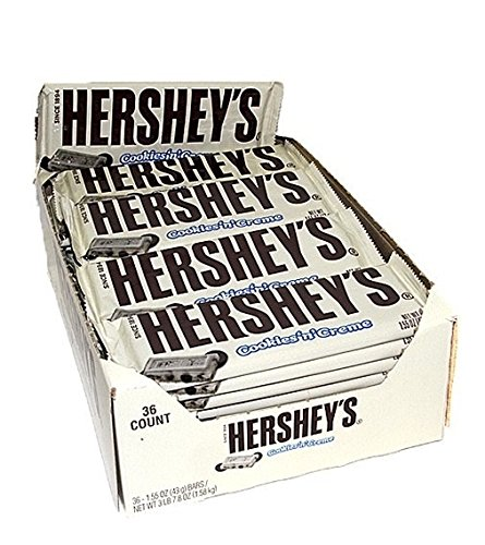 Hershey's Cookies 'n' Creme Bar, 43g chocolate Bar by Hershey's (36x43g)