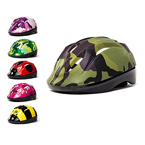 3Style Scooters Casco Kids Cycle in 6 Fantastici Design - per Ciclismo, Pattinaggio, Monopattino -...