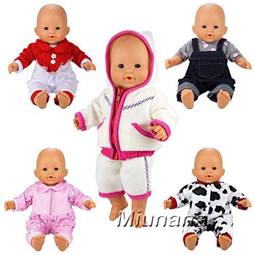 Miunana 5x Ropas Casual Ropas Fashion para 14 pulgadas muñeca bebé 36 cm Doll