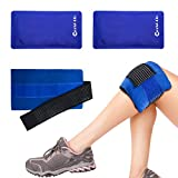 Set di 2 Flexible Ice Pack Caldo e freddo Gel Wrap Terapia di compressione, Gel Pack con compressione Flessibile di Ghiaccio, Riutilizzabile e Regolabile per Lesioni Muscolari e Sollievo Dal Dolore