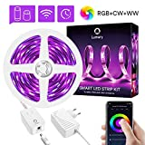 WiFi Tiras LED Alexa, Lumary 3M Tira LED Inteligentes RGB Blanco Calido Blanco Frío Luz LED, Multicolores Musical Lampara LED Funciona con Alexa Google Home, Luces decorativas para Navidad y Fiestas