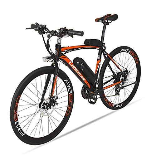Vlo-lectrique-Extrbici-RS600-700C-Vlo-de-ville-lectrique-en-Alliage-dAluminium-240W-36V-15A-SHIMANO-TZ-21-Vitesses-avec-Suspension-de-la-Fourchette-et-Moteur-Brushless-Couleur-Noir-Rouge-Cyrusher