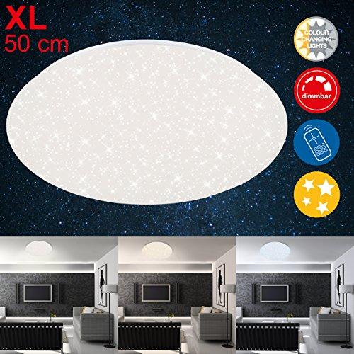 Briloner Leuchten - LED Deckenleuchte mit Sternendekor, Deckenlampe dimmbar, Farbtemperatur einstellbar, 48 W, 4000 Lumen, Ø: 49.5cm