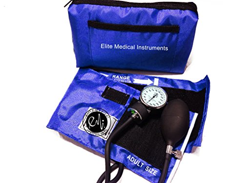 EMI ROYAL Professional Deluxe Aneroid Sphygmomanometer Blood Pressure Monitor Set with Adult Blood Pressure Cuff and Carrying Case