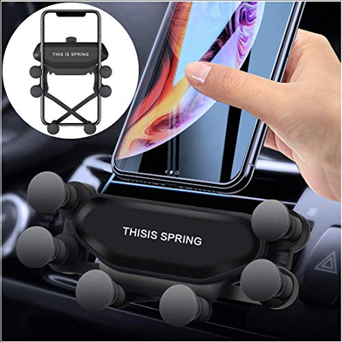 """Baskety [Upgraded Version] Car Phone Mount Gravity, Smart 7 Point Linkage Gravity Air Vent Phone Mount Auto-Clamping Universal Holder Compatible with 4.7-6.5"""" iPhone Xs MAX Samsung Android Smartphone"""