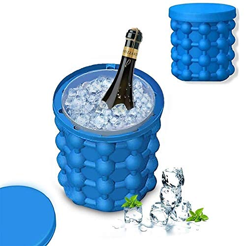 UNIQUE VATIKA Silicone Ice Cube Maker | The Innovation Space Saving Ice Cube Maker | Bucket Revolutionary Space Saving Ice-Ball Makers for Home, Party and Picnic