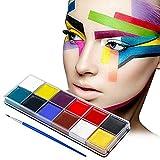 Pittura Facciale, Truccabimbi, Face painting, Body Painting, Set da 12 Pigmenti Non Tossici, Kit Completo Truccabimbi per Viso e Corpo, per bambini e adulti, di qualità professionale