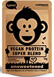 Naked Vegan Protein Powder Super Blend (1kg) Unsweetened | with Vital Minerals | Organic Plant Protein Sources with Omega Seed Blend & Botanical Essentials | Gluten Free | Unflavoured