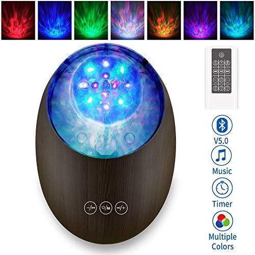 Lampada proiettore stelle bambini, Con telecomando Altoparlante Bluetooth Luce notturna a colori a...