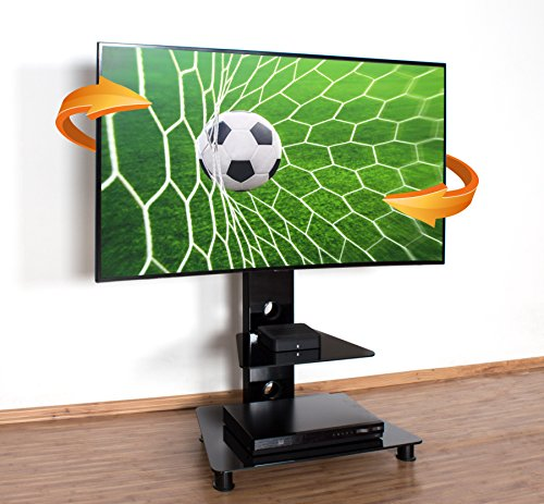 RICOO Supporto TV da Pavimento Piede FS707-B inclinabile orientabile girabile con Ruolo Smart 4K...