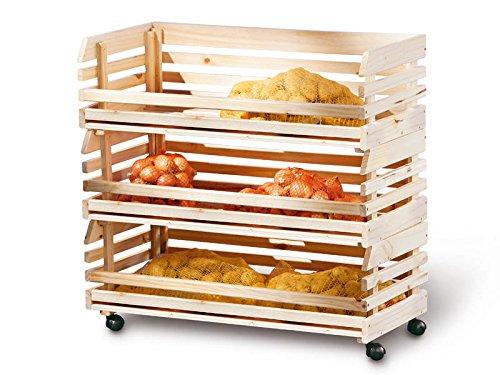 Links - Mr Potato A1 - Carrello. Dim: 79x30x80 h cm. Col: Naturale. Mat: Legno massello.