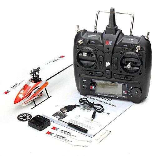 DishyKooker XK K110 RC Elicottero Senza Spazzola RTF / BNF per Bambini Giocattoli Divertenti Regalo droni droni all'aperto K110 con Telecomando