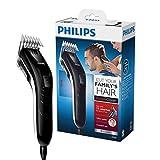 Philips QC5115/15 - Cortapelos silencioso con peine de 11 posiciones, Cuchillas de acero inoxidable, Uso con cable, Compacto y ligero