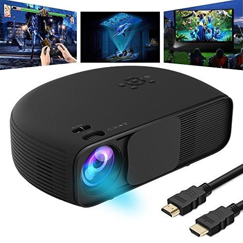 Videoproiettore Full HD, GOXMGO LED Proiettore iPhone Smartphone 3200 Lumen Portatile Supporto 1080p...