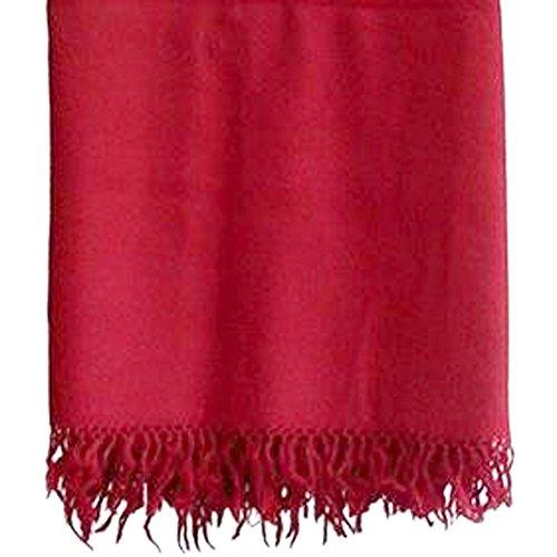 Parijat artisanale en laine Châle de méditation Tibet moines Bordeaux Rouge 100% à partir du Tibet par Châle de Prière, couverture de Bouddh... 22
