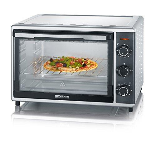 Severin TO 9630 Da tavolo Elettrico 42L 1800W Nero, Acciaio inossidabile forno