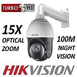 Hikvision PTZ CCTV dôme 2MP 1080p CMOS Zoom Optique 15x 1920x 1080HD-tvi CVBS BNC 100m Turbo Vision de Nuit en Plein air Adaptateur Tube de Support Mural Trade Ds-2ae4215ti-d DS-1602ZJ/mur