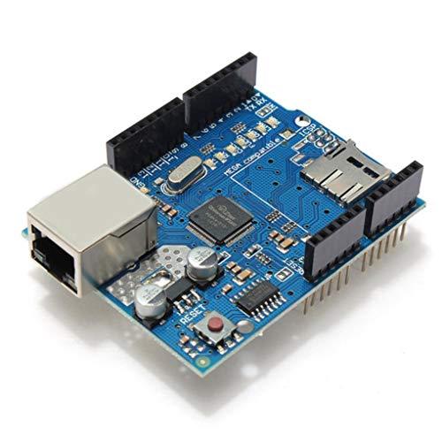 Yongse Modulo Scheda Ethernet Geekcreit W5100 Micro SD Slot per Arduino Uno Mega 2560
