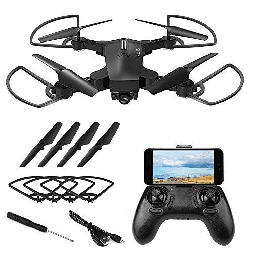 Vegena Drone con Telecamera HD, Potensic Drone con Telecamera 720p WiFi HD FPV RC Quadricottero Telecomando Dotato delle Funzione Modalita Senza Testa G-sensore 3D Flip Facile per Principianti