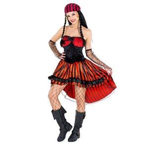 TecTake dressforfun Disfraz de Pirata para Mujer | Llamativo Vestido | Tejido imitación Terciopelo Brillante (M | no…