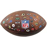 Wilson Unisex's Nfl Jr Throwback Fb 32 Team Logo American Football Ball, Brown/Multicolor, Official Size