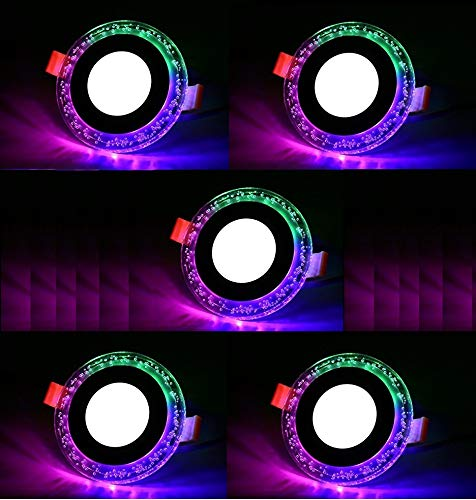 """""""Happy Selling"""" 6 Watt Round Bubble Jelly Decorative Panel Light Double Color (White + Pgb) Pop Multi Color 3D Effect Led Celling Light 