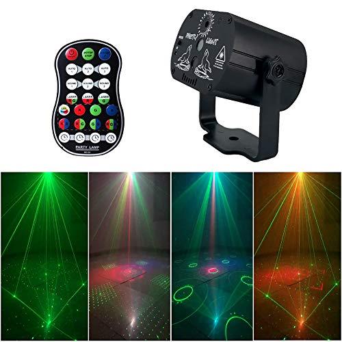 BONNIO LED Bühnenleuchten Par Lampe RGB DJ Disco Beleuchtung Bühne Effekt Bar Party Lichter Strobe Lichter