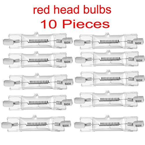 lampadina rossa/tungsteno alogene continuo Red Light Bulb testa per Photo Studio 800W LAMPADINA 10...