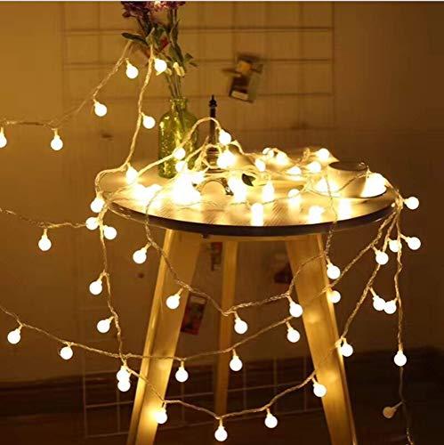 JP-LED Catena Luminosa Di Luci Led 13M【filo di 100 lampadine 10M e Cavo Di Prolunga 3M】Luci Da...
